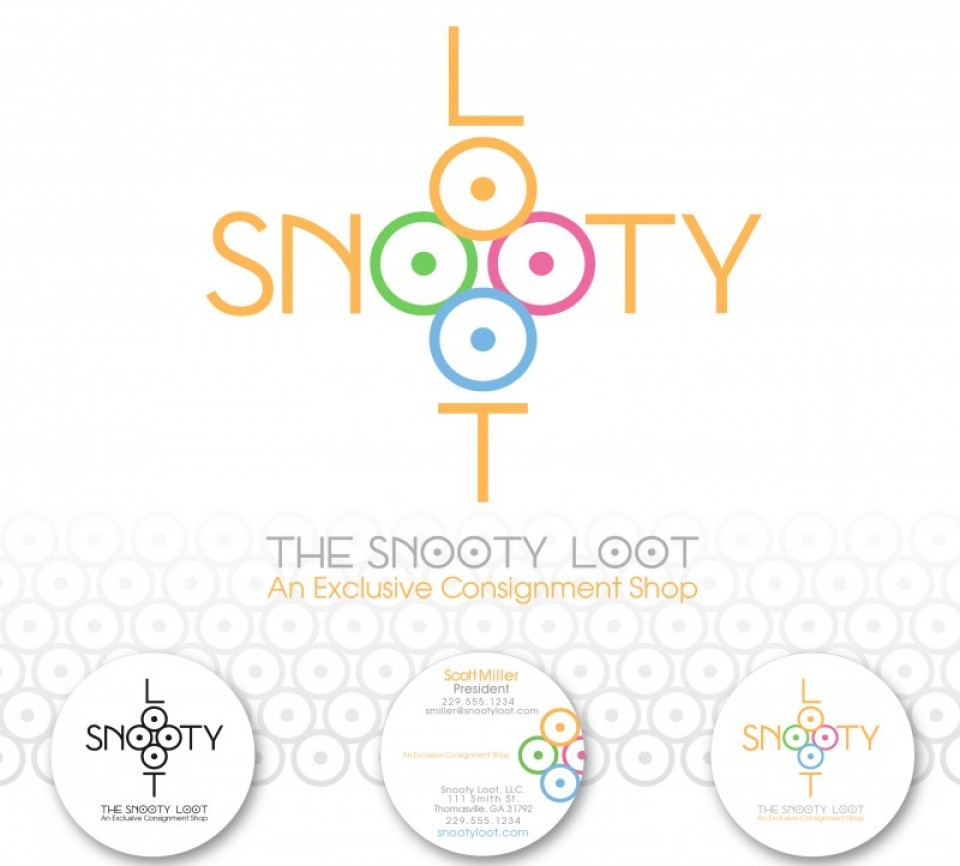 Logo / Brand Identity for Snooty Loot , a high-end consignment shop